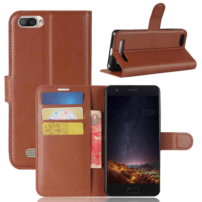 Guran® Funda de Cuero PU Para Doogee X20 / X20L Smartphone Función de Soporte con Ranura para Tarjetas Flip Case Cover Caso-marrón Doogee X20 / X20L-9