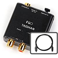 FiiO D3 (D03K) Digital to Analog Audio Converter With Micca 6ft Optical Toslink Cable - 192kHz/24bit Optical and Coaxial…