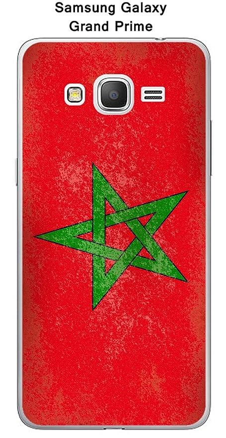 Onozo Carcasa bandera Marruecos Vintage para Samsung Galaxy ...