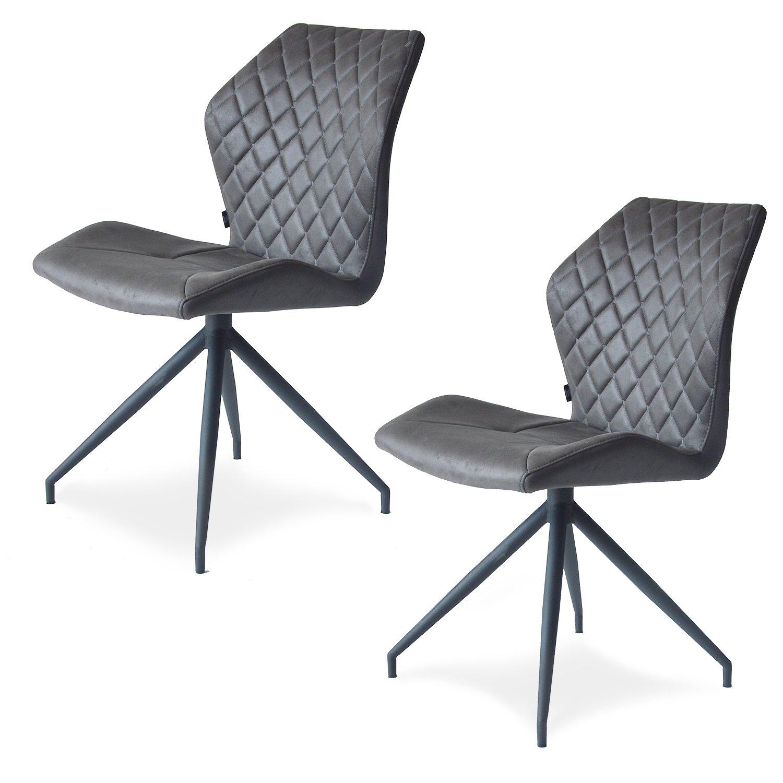 Damiware Rocky Esszimmerstühle 2er set | Design Stuhl mit Stoffbezug ...