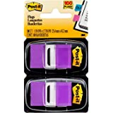 Post-it Standard Page Flags in Dispenser  1in Wide, Purple 100 Flags, 680-PU2