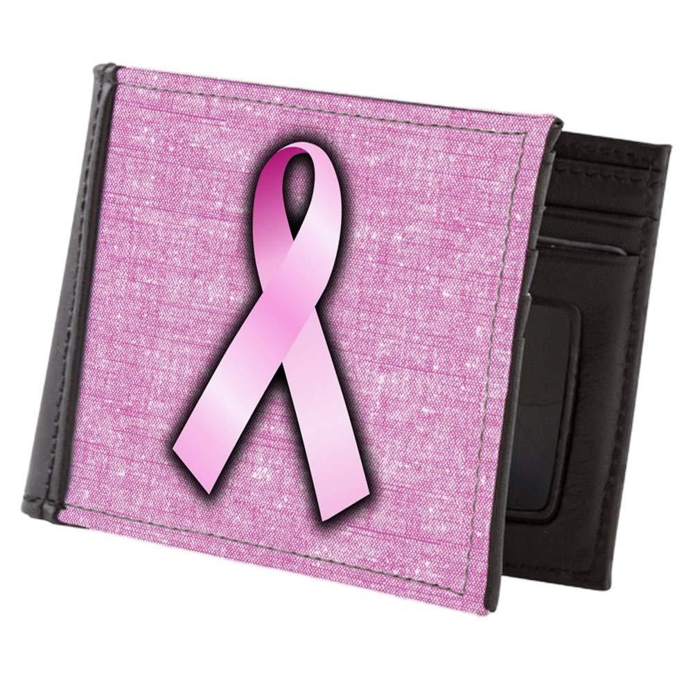 Royal Lion Mens Wallet Billfold Breast Cancer Pink Ribbon