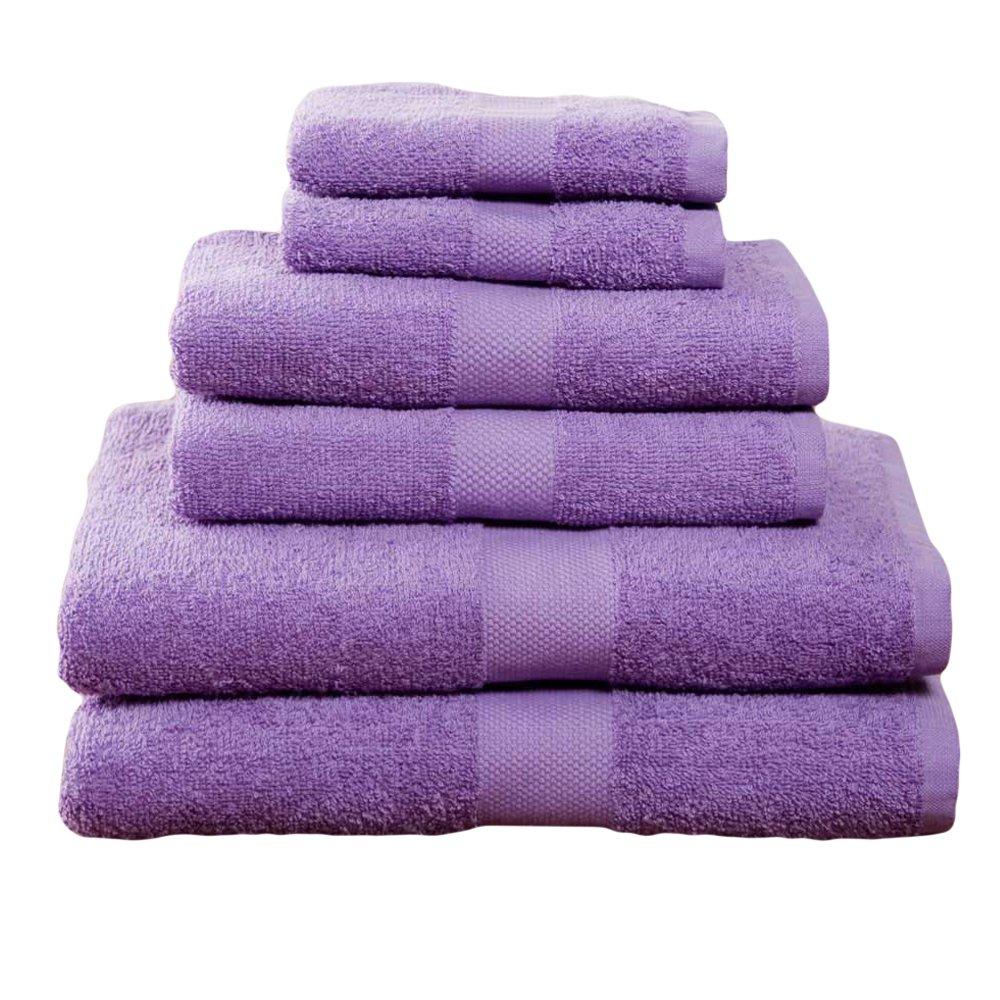 6 Piece Grape Deulxe Towel Set College Dorm Bath Set