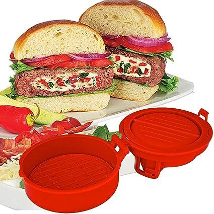 MWS - Molde para hamburguesas normales o rellenas, utensilios de cocina -