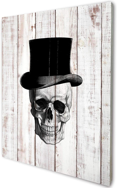 akeke Anatomy Skull Gentleman Vintage Rustic Farmhouse Wood Wall Art Decor, Unique Steampunk Anatomy Home Studio Decor for Dr Office, Gift for Doctor, Physician, Nurse,Friend 8