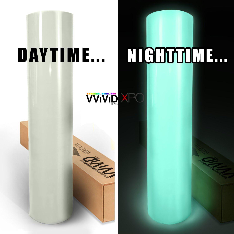 VViViD - Lámina de vinilo adhesivo luminoso que brilla en la oscuridad, con tecnología de liberación de aire, color verde: Amazon.es: Coche y moto