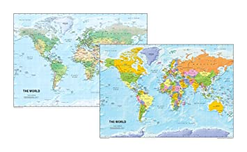 The world map set physical and political a3 size 297 x 42 cm the world map set physical and political a3 size 297 x 42 cm gumiabroncs Image collections