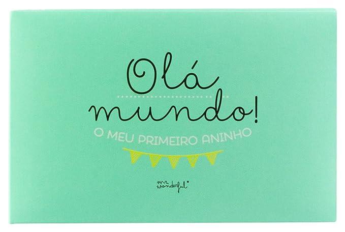 Mr. Wonderful Álbum, Cartón, Verde Menta: Amazon.es: Hogar