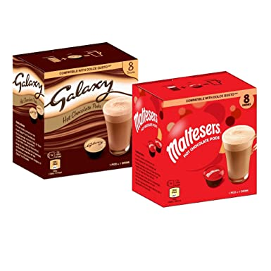 Galaxy Maltesers Hot Chocolate Dolce Gusto Compatible 16 Pod Double Pack