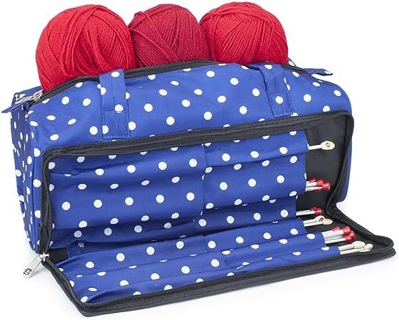 Roo Beauty Ltd Bolsa de Tejer, Accesorios de Costura y Estuche Organizador de Agujas para Manualidades Lunares Marinos.: Amazon.es: Hogar