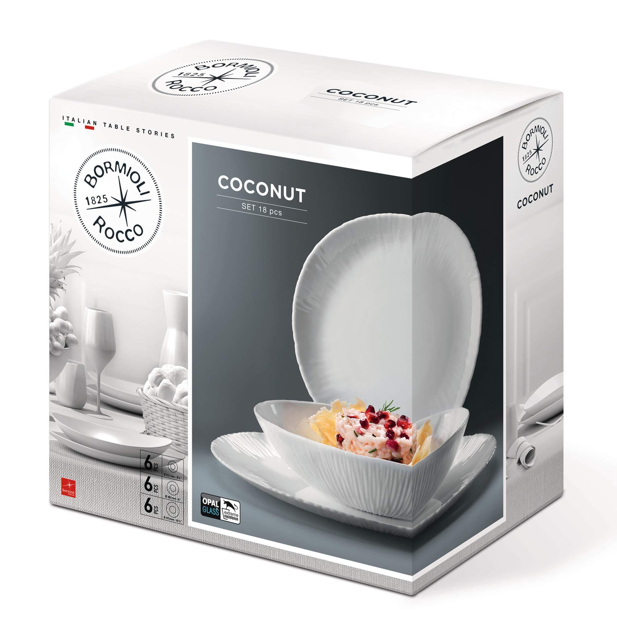 Coconut Opal Glass 18pc Tableware Set [766115]