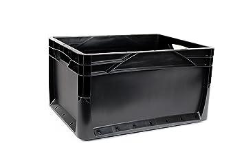 10 x 20 litros Euronorm Eco Industrial Plástico Apilables Euro cajas de almacenamiento contenedores cajas negro: Amazon.es: Bricolaje y herramientas