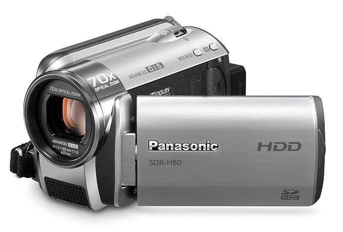 amazon com panasonic sdr h80 s sd and hdd camcorder silver rh amazon com