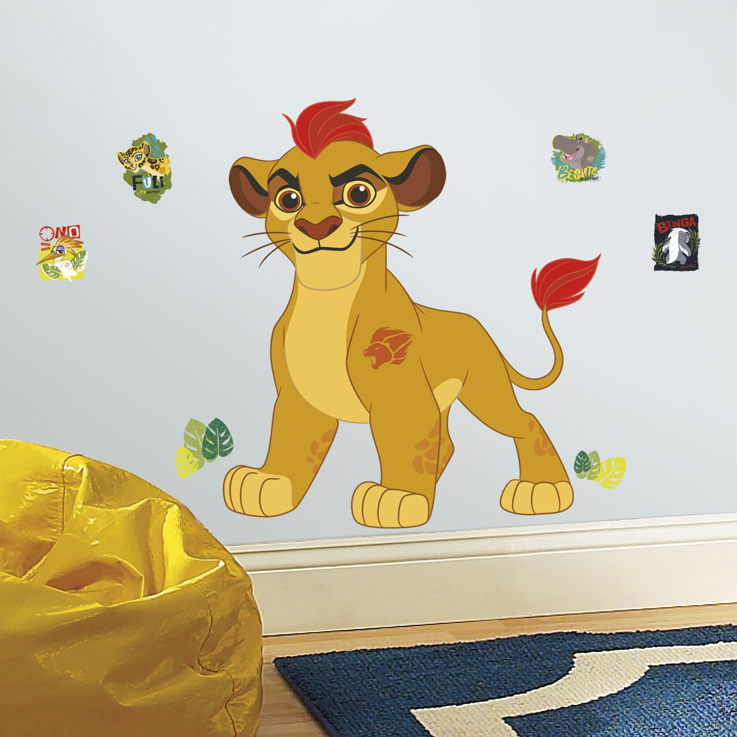 RoomMates RMK3176GM Lion Guard Kion Peel and Stick Giant Wall Decals ...