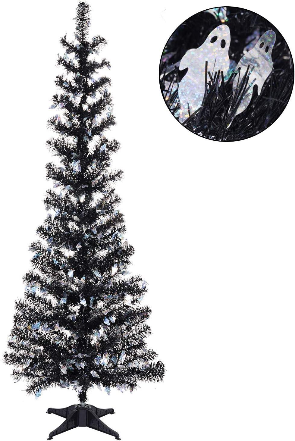 N&T NIETING 5ft Tinsel Halloween Christmas Tree Holiday