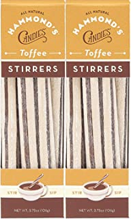 product image for Hammond's Candies Flavored Toffee Candy Stirrers Sticks   All Natural Gluten Free Handmade By Hammond's Candy (Toffee, 2-Pack)