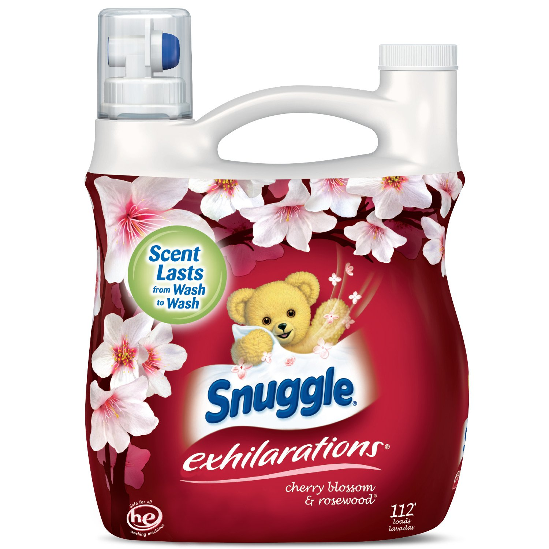 Amazon.com: Snuggle Exhilarations Liquid Fabric Softener, Cherry Blossom & Rosewood, 96 Fluid Ounces (4): Kitchen & Dining