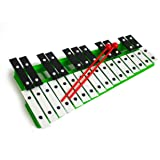 ProKussion green27V 27Clé Chromatique Glockenspiel Xylophone avec baguettes–vert