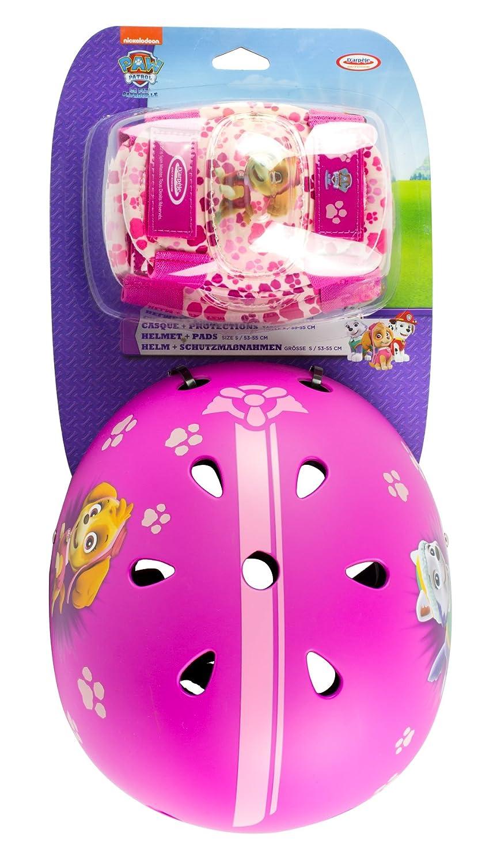 Paw Patrol Mädchen 318 Helmet + 2 Set Pads, pink, S DARPA|#D'arpeje Outdoor OPAW318-F