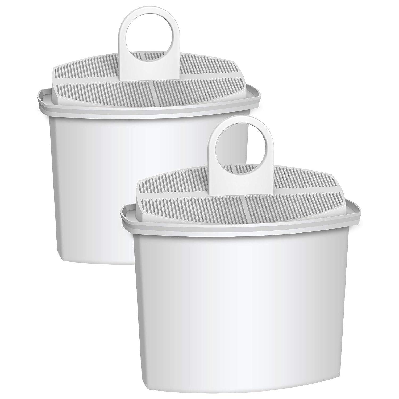 AQUA CREST TÜV SÜD Certified KWF2 Coffee Water Filter, Compatible with Braun Brita KWF2, 3112799, 3112770, 3112771 (Pack of 2)
