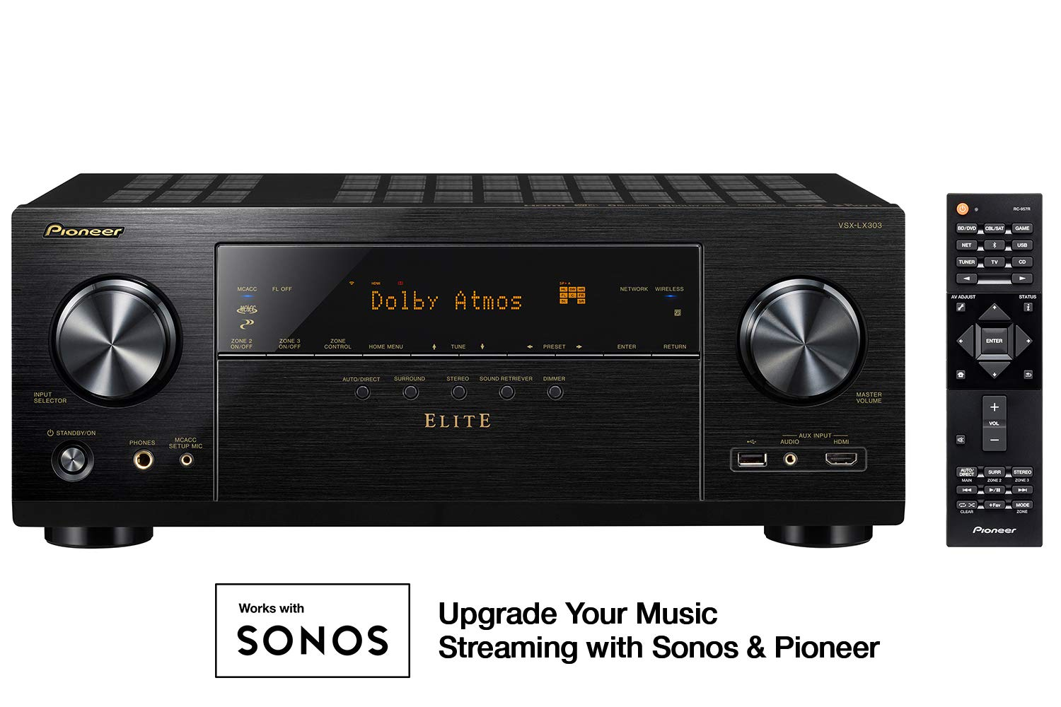 Pioneer VSX-LX303 9.2 Channel 4k UltraHD Network A/V Receiver Black ONKY9 - pallet ordering