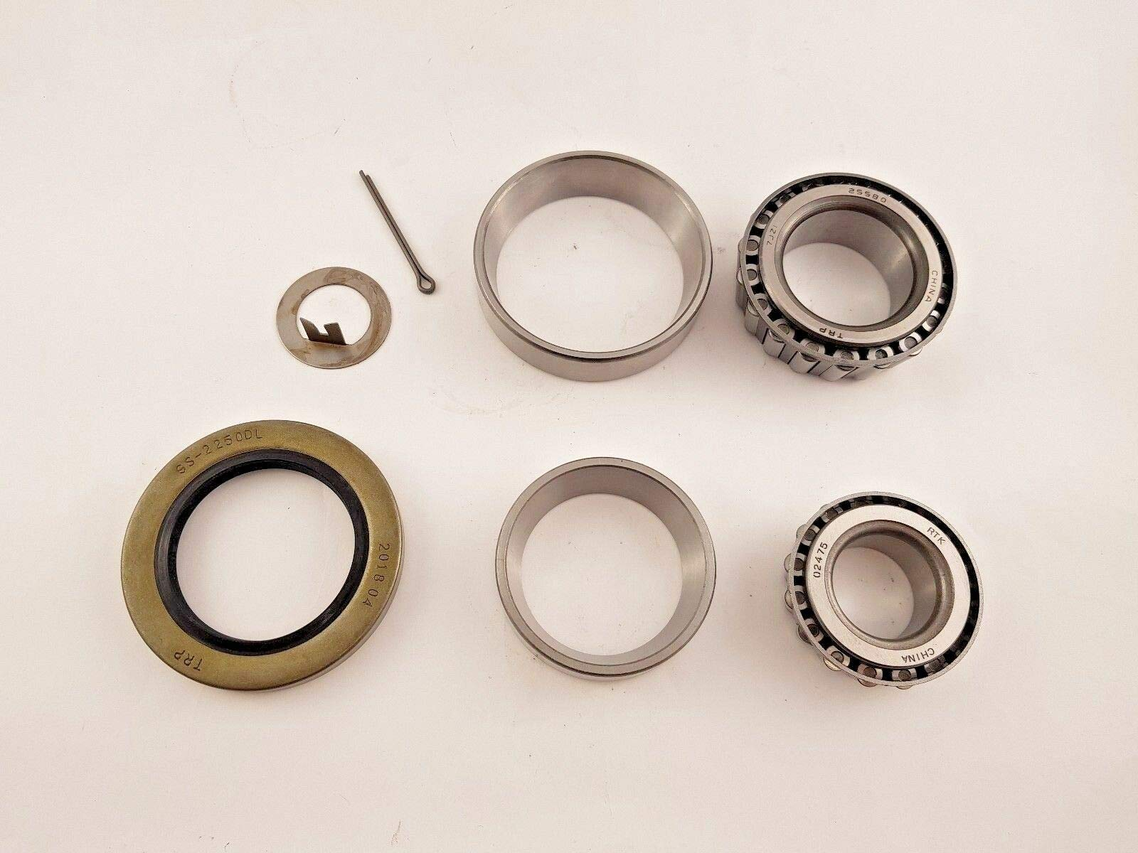 Grease Bearing Kit 8000# Axle #42 Spindle 02475 22580 8K Dexter Lippert Trailer by unbrand