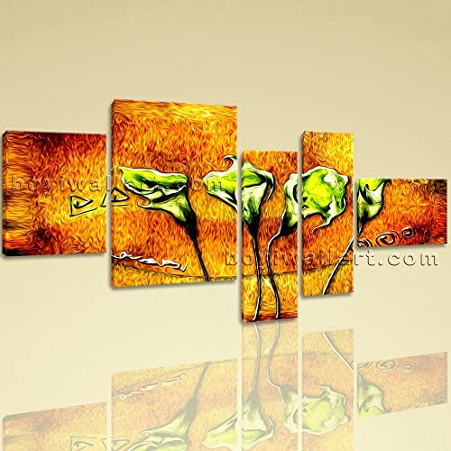 Amazon.com: Extra Large Abstract Flower Hd Print Modern On Canvas ...