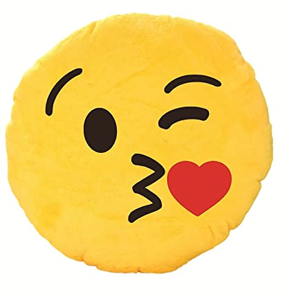 buy dhanu wink kiss emoji smiley 35 cm online at low prices in