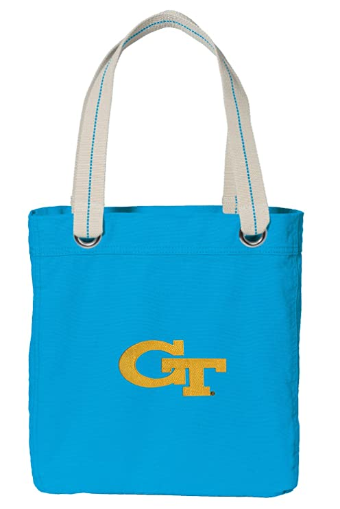 1cb4754afb941 Amazon.com  Broad Bay Georgia Tech Tote Bag DELUXE Dye Washed COTTON ...