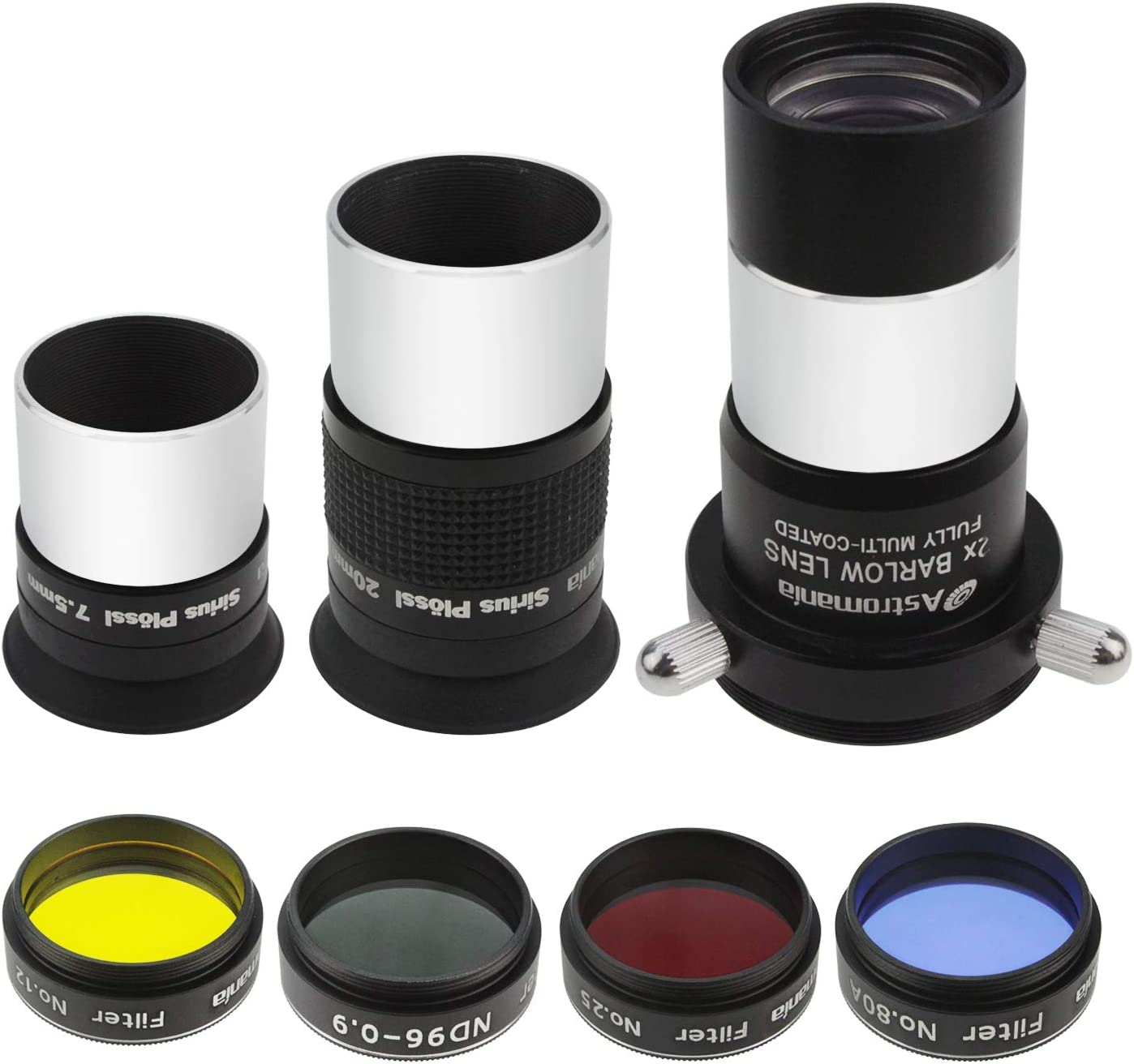 a Useful Set of Accessories for The Newcomer to Astronomy with high Performance-Price Ratio Astromania 1.25-Inch Astronomical Telescope Accessory Kit