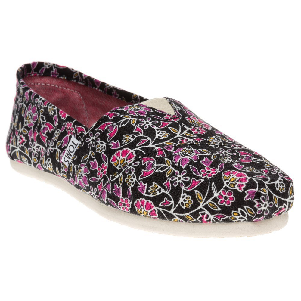TOMS Women's Classics Floral Black Casual Shoe 9 Women US