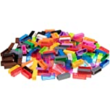 Strictly Briks Premium Multicolored New and Improved 2x2 Stackers - 180 Pack - Compatible with All Major Brands
