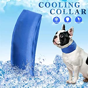 USAMS Dog Cooling Collar, Cooling Dog Cat Collar with Adjustable Neck Size, Summer Chill Out Pet Cooling Collar, Relieves Heat Stress - Stays Cool for Hours