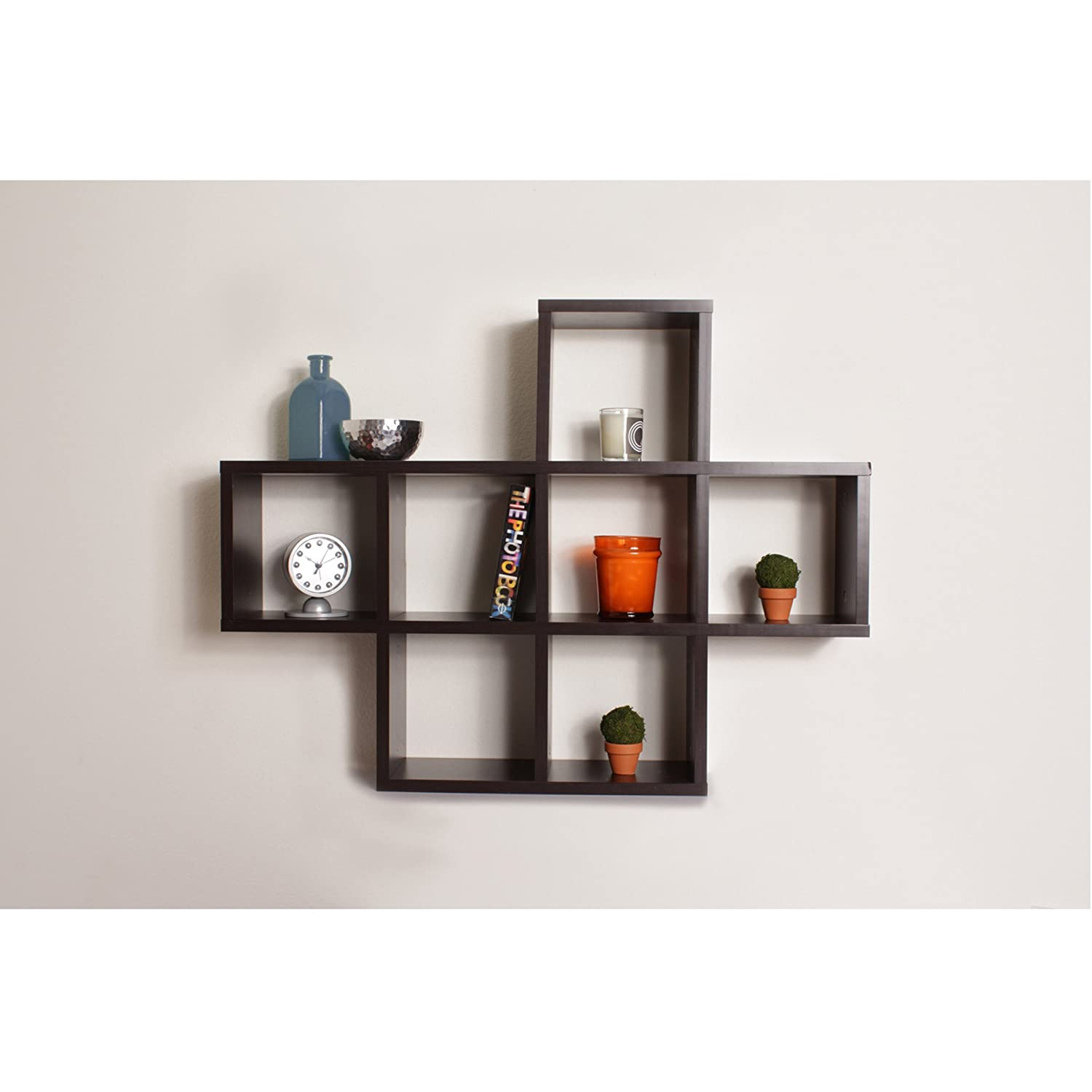 Amazoncom Cubby Laminated Veneer Shelving Unit in