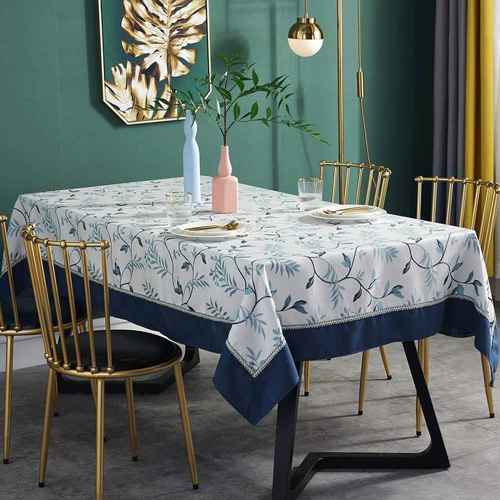 テーブルクロス綿とリネンの小さな新鮮な長方形のコーヒーテーブルのテーブルクロステレビキャビネットダストテーブルクロス,130*180cm   B07RRX3M81