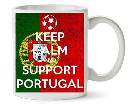 1GD Keep Calm Support Portugal Taza para Café Y Té
