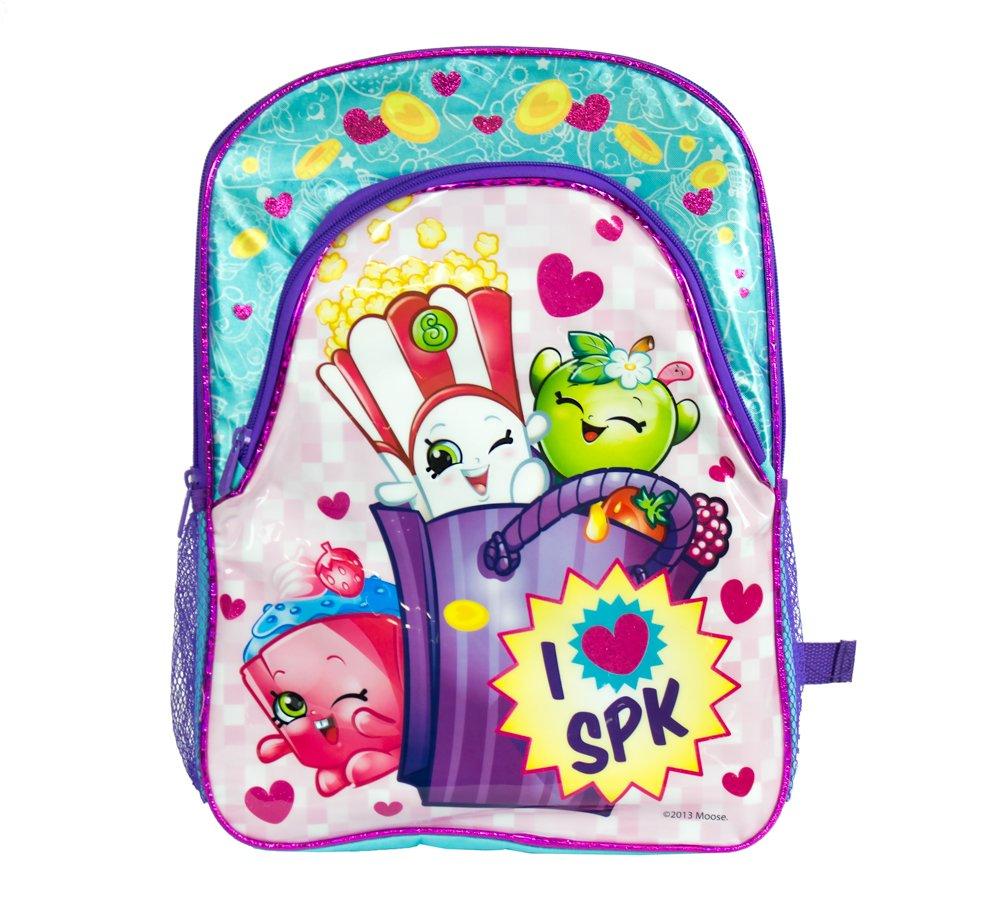 Shopkins Girls I Love SPK 16'' Large School Backpack (One size, Blue/Pink)