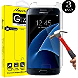 Galaxy S7 Screen Protector,[3 Pack] Amextrian Glass Protector [Tempered Glass] 9H Hardness, Bubble Free [Case Friendly]