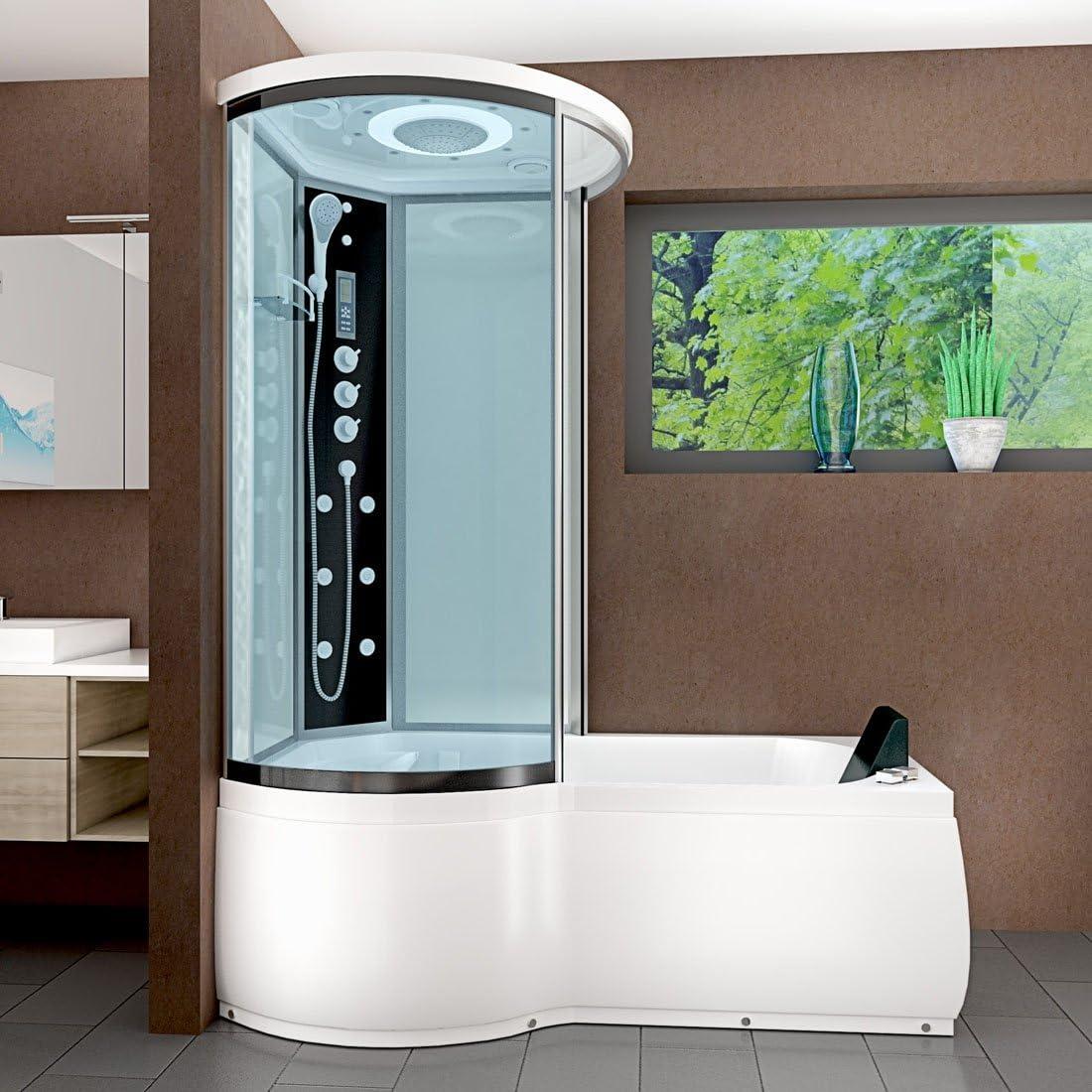 Vapore acqua DTP8055-A007R bañera de hidromasaje bañera ducha templo de ducha 98 x 170, Blanco 920.00 wattsW, 230.00 voltsV: Amazon.es: Bricolaje y herramientas