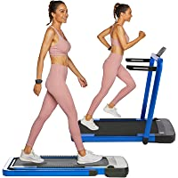OppsDecor Under Desk Treadmill 2in1 Pad Treadmill Folding Electric Treadmill Remote Control Walking Running Machine with…