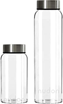 Botella de agua motivacional, vidrio sin BPA a prueba de fugas ...