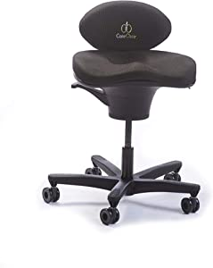 CoreChair Classic Premium Ergonomic Active-Sitting Office Chair   Patented Design to Promote Movement to Build Core Strength and Posture (for Those 5'5