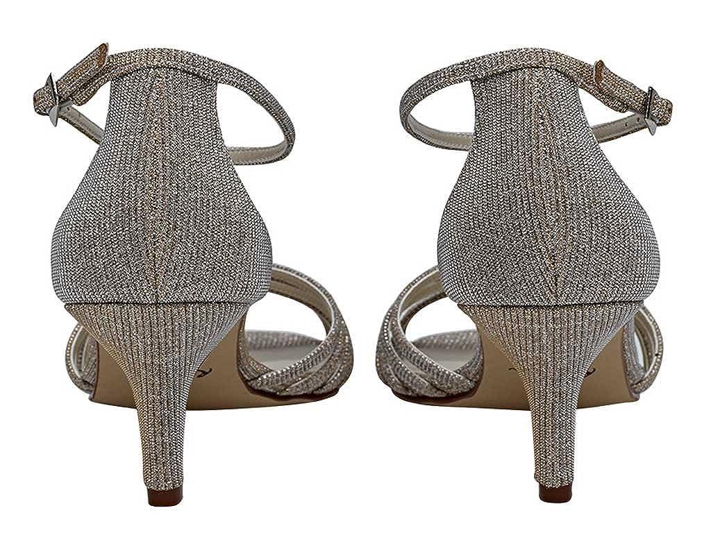 Gold Metallic T-bar Sandal Shoes Estelle