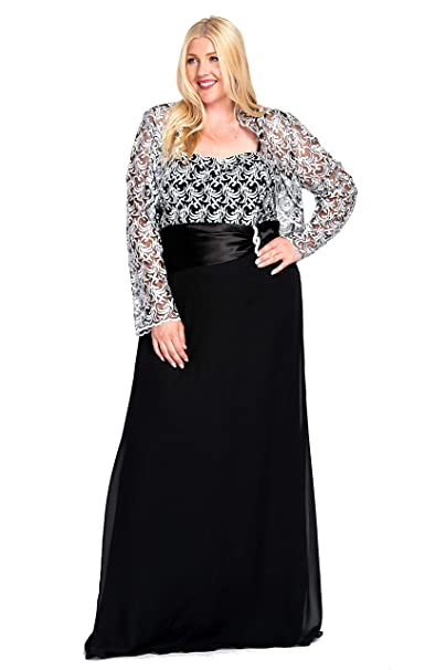 Long Mother of The Bride Dress Plus Size Formal Gown