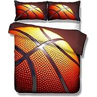 Stillshine Funda nórdica Cama 90 cm 3D Baloncesto Estilo Deportivo Ropa de Cama…