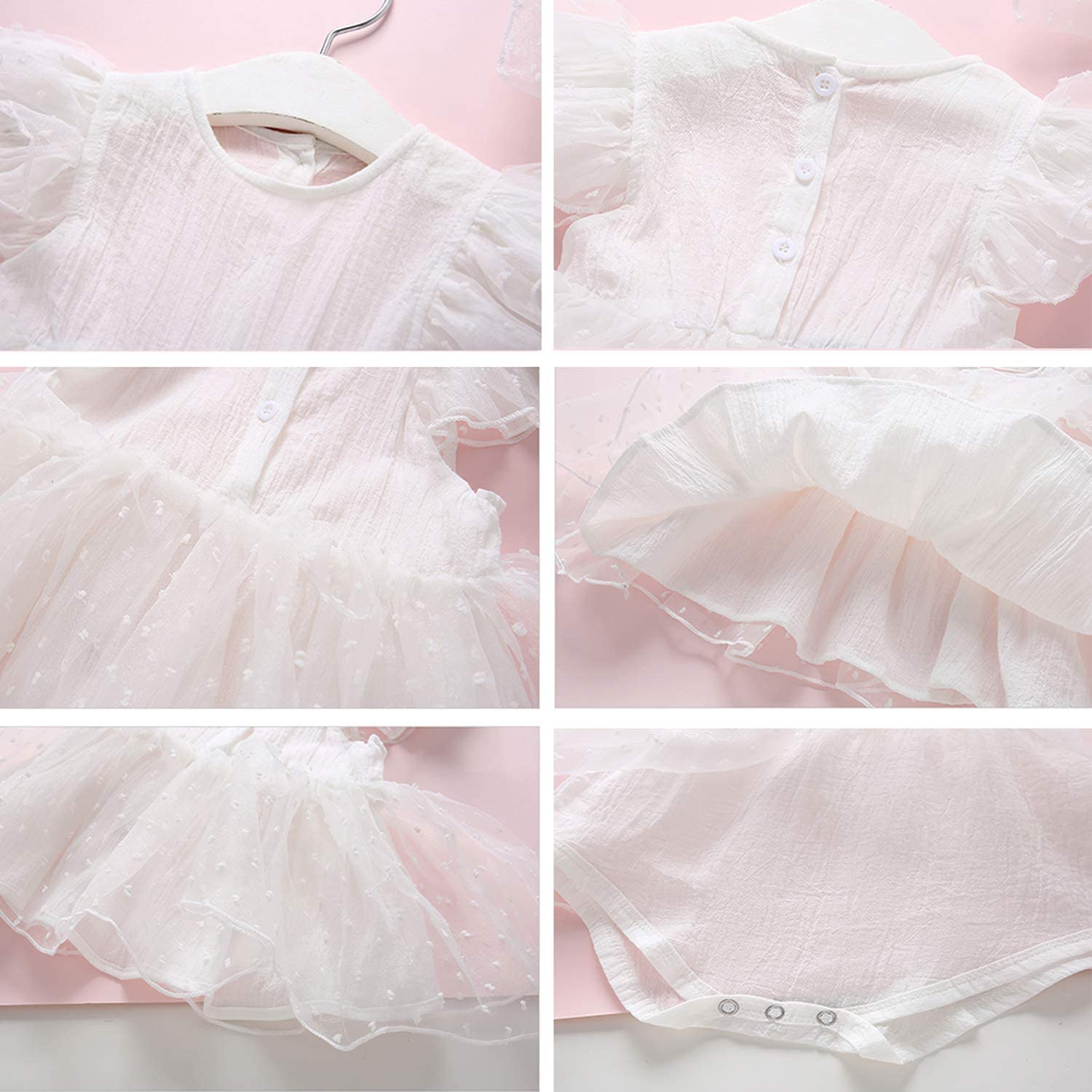 Yilaku Baby Girls Flower Christening Baptism Dress Formal Party Special Occasion Dresses for Toddler