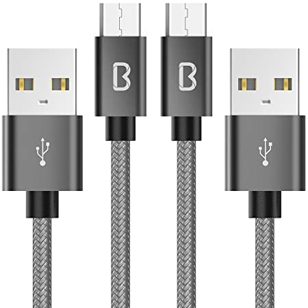 Micro USB Cable,Beikell [2-Pack 6.6ft/2M] 2.4A High Speed Nylon Braided Android Micro USB Charger Charging Sync Cable for Samsung, Nexus, LG, Sony,PS4, HTC, Motorola, Kindle, Nokia and More-Best-Popular-Product