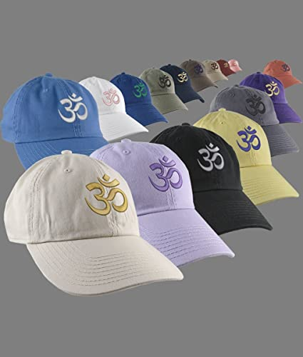 37156f04 Amazon.com: Custom OM Spiritual Symbol Yoga Lifestyle Your Color Embroidery  Design on Your Selection Adjustable Unstructured Baseball Caps Dad Hat  Style: ...