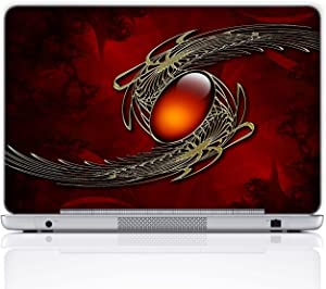 Meffort Inc 15 15.6 Inch Laptop Notebook Skin Sticker Cover Art Decal (Free Wrist pad) - Red Gem Stone