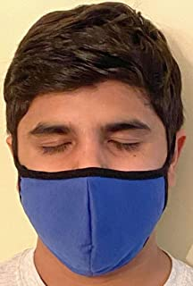product image for Made in USA Fashion Protective Face Masks Unisex Washable Cotton Mask Hand Made… (Blue)